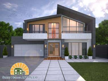 Front Facade by: Sunny Homes