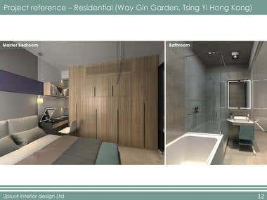 hotel, sale office and residential interior design