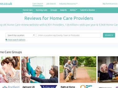 HomeCare website