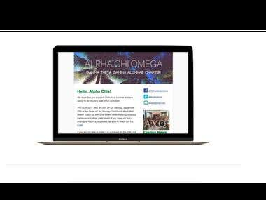 email marketing Alpha Chi Omega - Gamma Theta Gamma Chapter