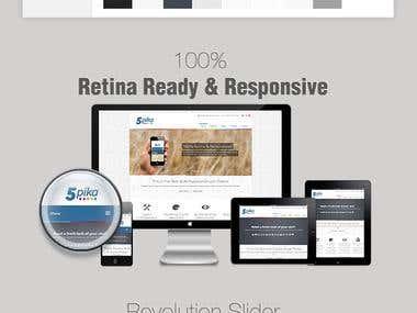 5Pika Responsive Theme - Drupal