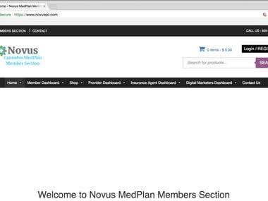 Novusqc WooCommerce eCommerce website