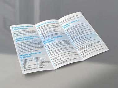 3 fold, A4 brochure