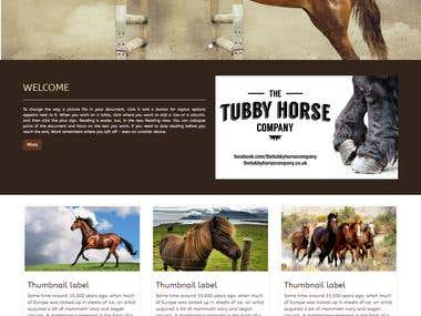 Horse riding website