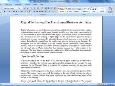 Digital Technology Has Transformed Business Activities