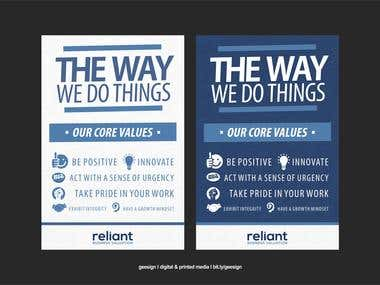 Banner prototypes - Reliant