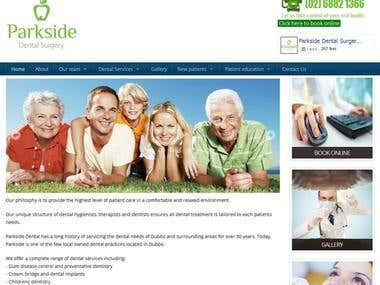 Parkside Dental Surgery (Drupal 7)