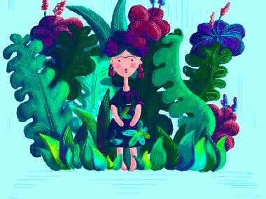 Frida Khalo Childrens illustration book