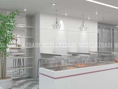 Interior Design Germain Patisserie & Coffee Shop Morocco