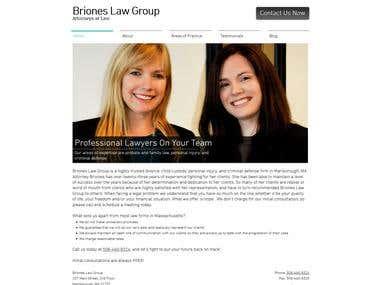 Drupal - http://www.brioneslawgroup.com/