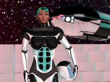 Space Girl 3D