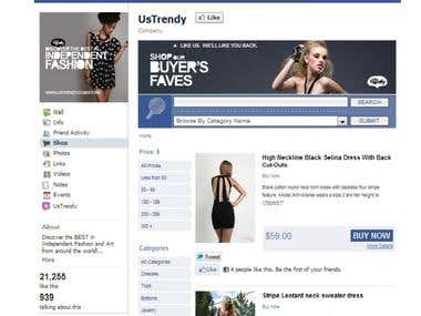 Facebook Online Shop Store