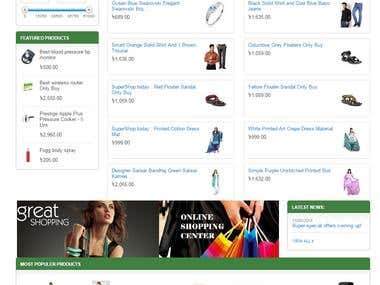 eCommerce web Supershop.tody