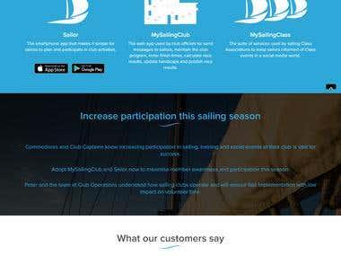 My sailing Club Homepage