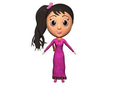 cartoon female character