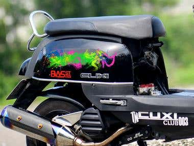 Motorcycle sticker