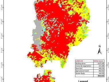 Land Use Change Analysis in GIS & ERDAS IMAGINE