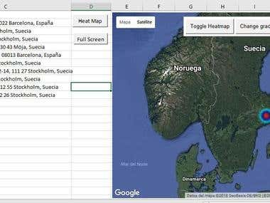 Google maps integration with Excel and VBA