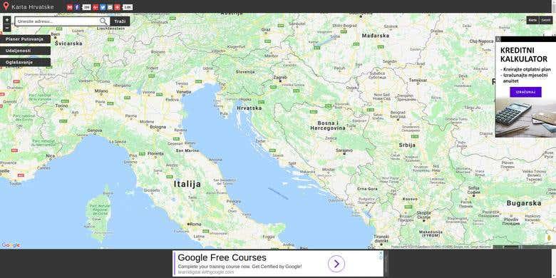 Auto Karta Hrvatske Street Map Directory Freelancer