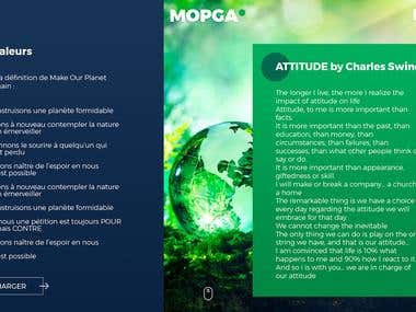 MOPGA | website and mobile prototype