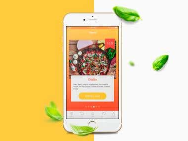 SLICES Pizza Delivery | app concept
