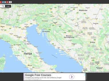Auto Karta Hrvatske - Street Map Directory