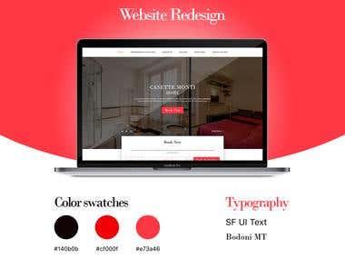 Casette Monti | website redesign