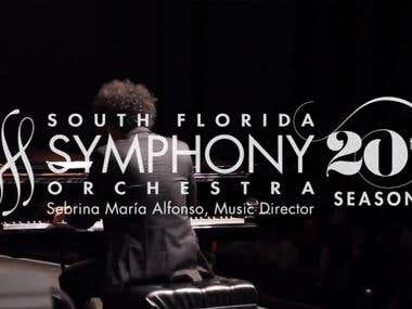 Video montage for a Symphony Show advertisement