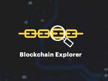 BlockChain Explorer Development.