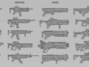 sci-fi guns