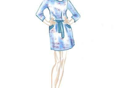 Sketch - summer dress