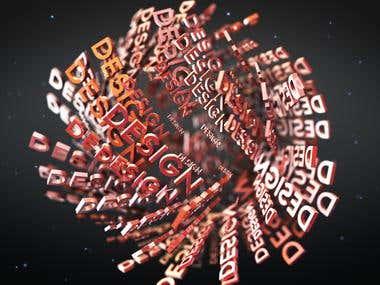 3D Text Shape Logo Reveal
