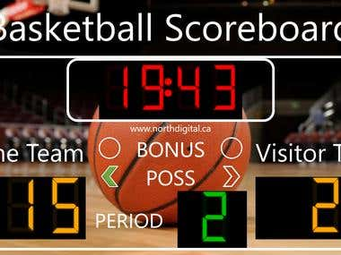 Basketball Scoreboard Program with USB key integration