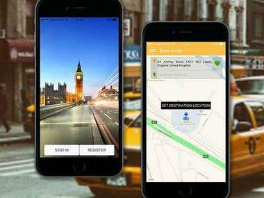 Find Taxi Cab Online booking app with android App & IOS
