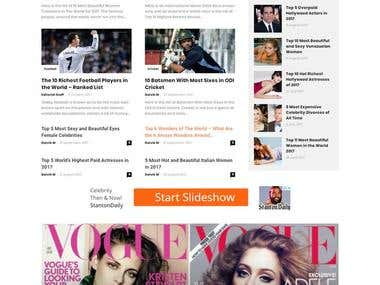 WordPress Website built for Top 10 (Articles)