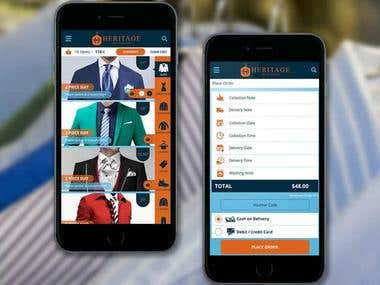 Heritage Dry Cleaner Web App with Android & IOS