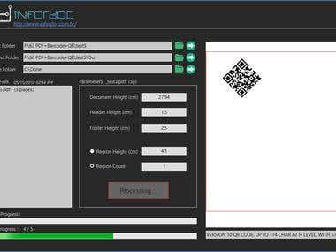 PDF manipulation + Barcode&QR Code Integration