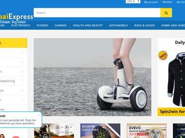 E-commerce Site with full responsive
