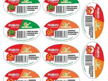Diseño de etiquetas Super Verde
