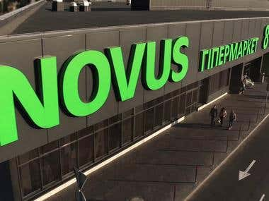 TV commercial «Novus» (Editing)