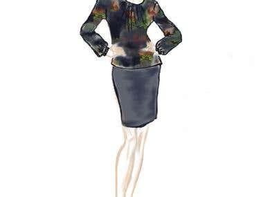 Sketch - blouse