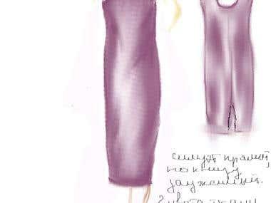 Sketch - dress