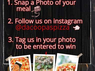 pizza Instagram post
