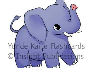 Animals [Art for Japanese Language Flashcards]