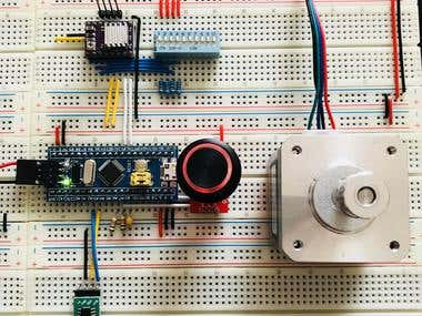 Step Motor Controller Test Circuit