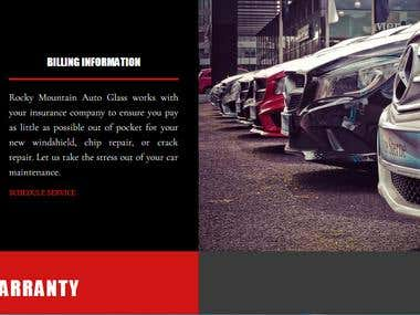 Auto Glass Company Business Website (US)