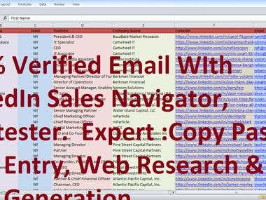 LEAD GENERATION | DATA ENTRY | WEB RESEARCH EXPERT.....