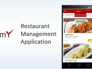 Restaurant management application