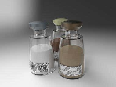 Design spice/salt grinders