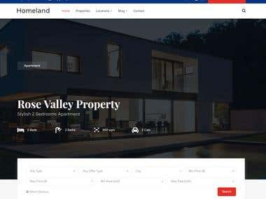 Creating custom real estate WordPress theme